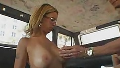 Two Horny Stars Have A Good Time On The Garage Before He Squirts His Jizz