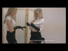 Busty Blondes With Gloves
