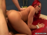 Redhead Latina Milf Enjoing A Hard Long Dick