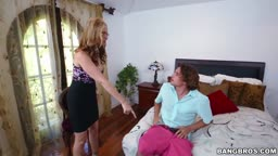 Stepmom And Stepsister Having Threesome