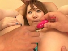 Shiori Has Pink Aroused Close To X-rated Playthings