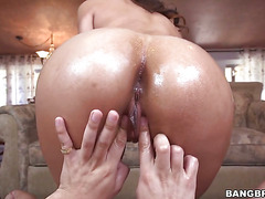 Brunette With Phat Butt Makes A Dirty Dream Of Never-ending Interracial Fucking A Reality