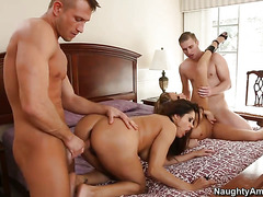 Francesca Le With Round Ass And Smooth Cunt Is Horny As Hell And Fucks With Wild Enthusiasm In Steamy Action With Bill Bailey